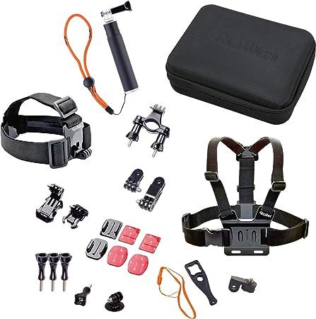 Rollei Actioncam Accesorios Set Outdoor I Set de 23 piezas I Ideal para escalada, senderismo y otras actividades al aire libre I Para Rollei ...