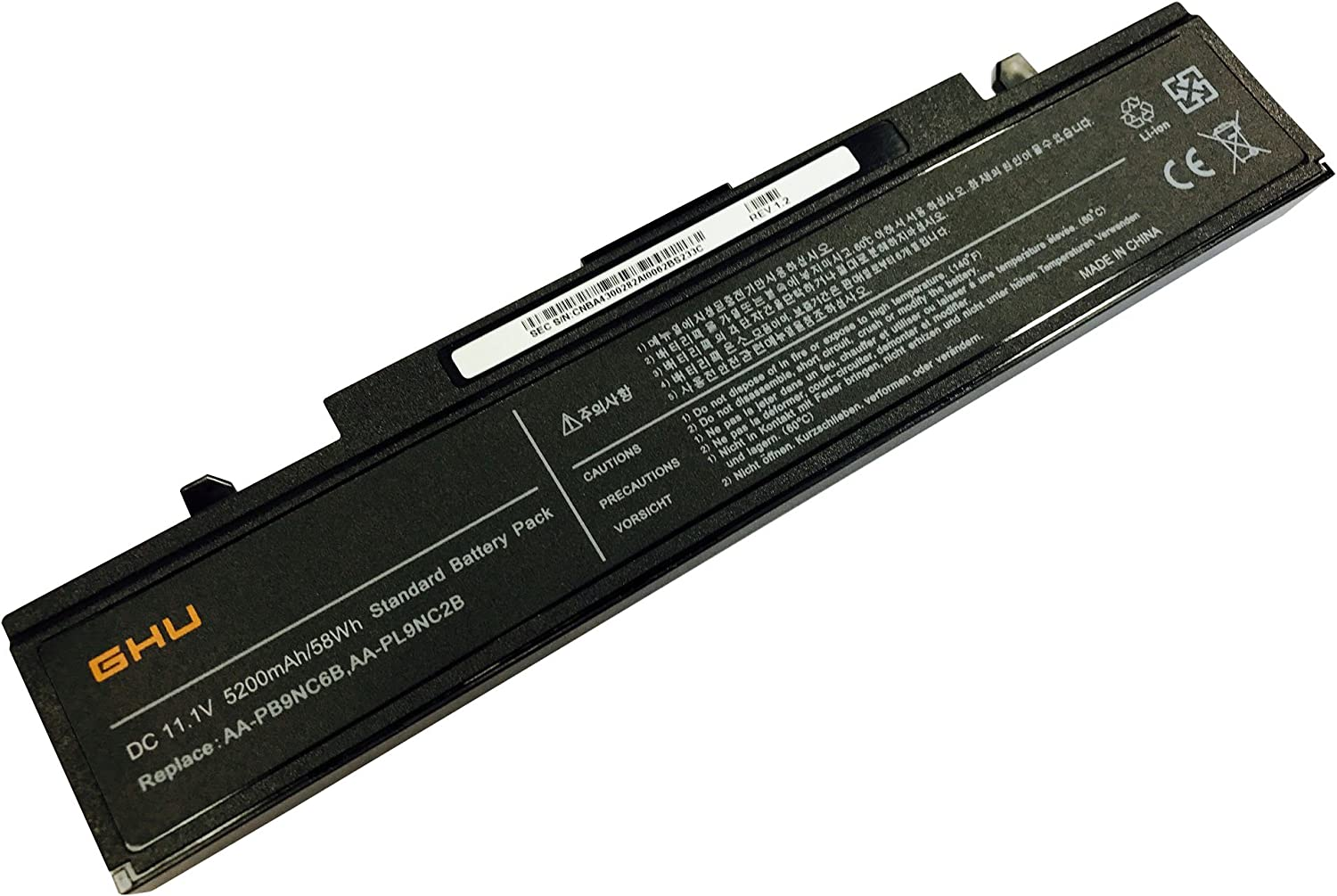 New GHU Battery AA-PB9NC6B 58 Wh for Samsung R429 R465 R465H R466 R520H R522H R530 AA-PB9MC6B AA-PB9NC6W AA-PB9NS6B R720 AA-PB9MC6W AA-PB9NC5B AA-PB9NC6B AA-PB9NC6W/E AA-PB9NS6B PB9NS6B AA-PB9NS6W
