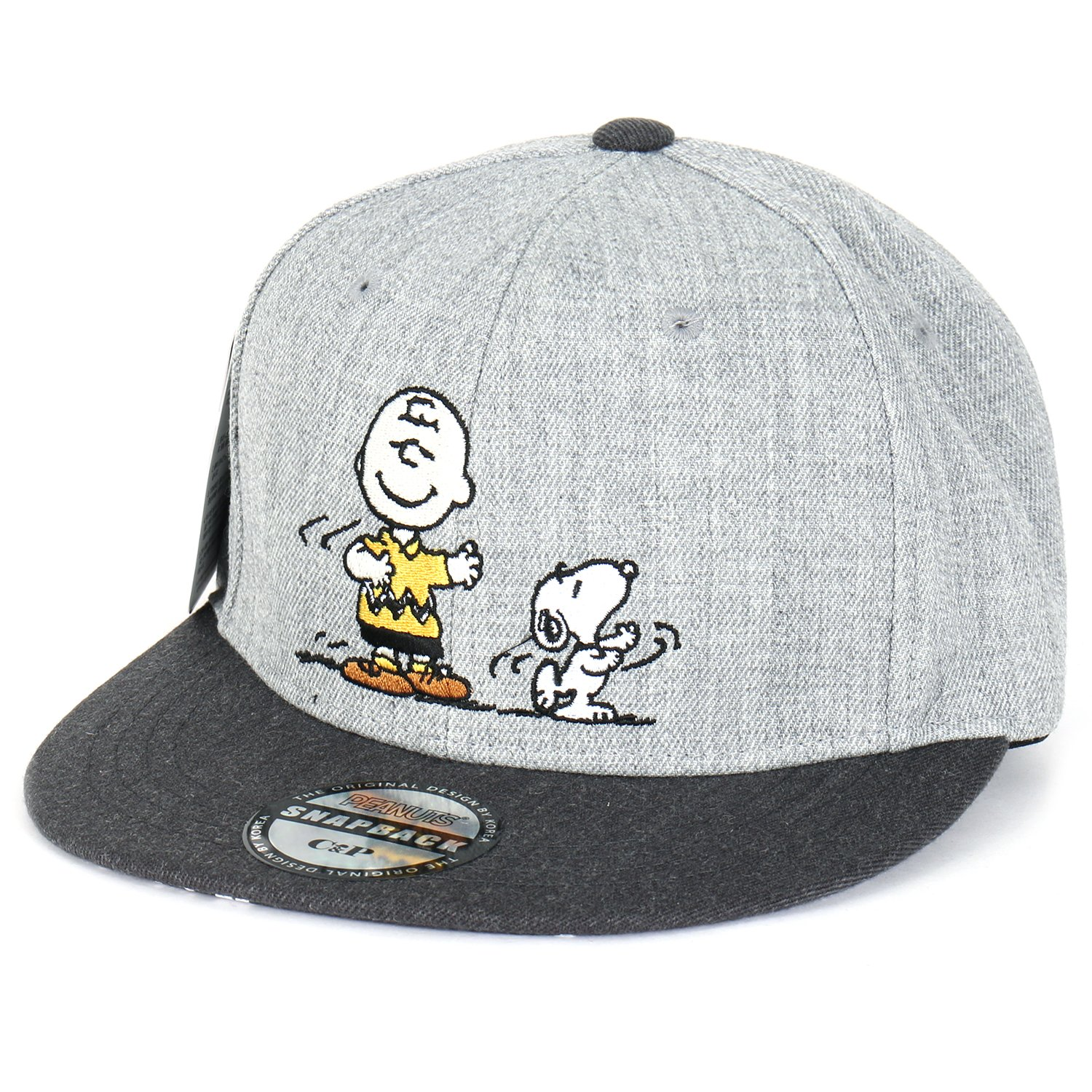 c7e64d86873 Peanuts Embroidery Snoopy Charlie Brown New Era Style Snapback Hat Baseball  Cap (ballcap-1325-3)  Amazon.co.uk  Clothing