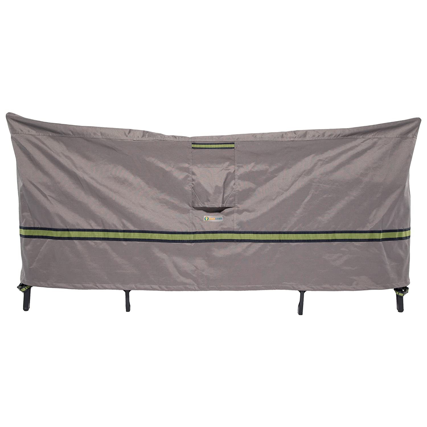 Duck Covers Soteria Rainproof 92 Long Square Patio Table with Chairs Cover