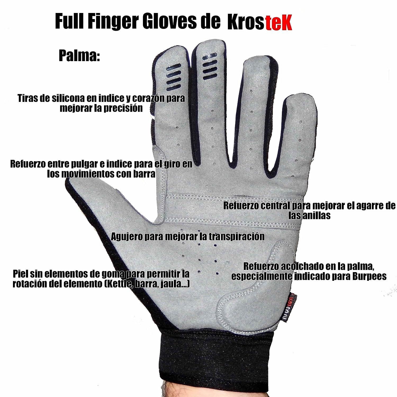 Par de guantes Full Fingers para crossfit KrosteK