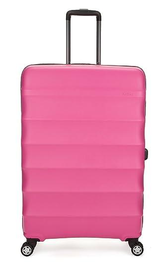 Antler Suitcase Juno 4-Wheel Case, Large, 110 Liters, Pink: Amazon ...