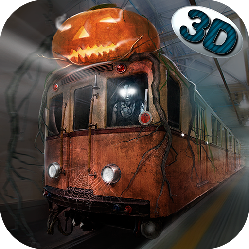 Spooky Halloween Subway Train Driver 3D: Metro Simulator Spooky Halloween Underground Train Station ()
