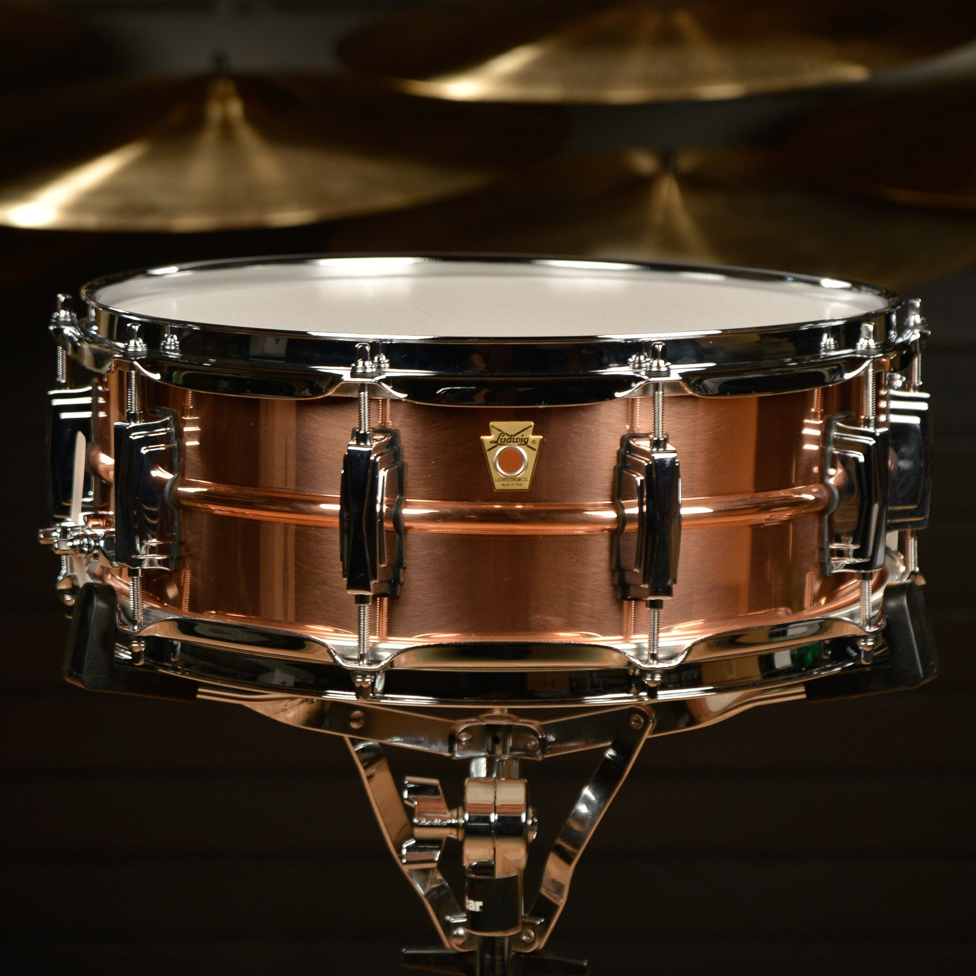 Ludwig Copper Phonic Smooth Snare Drum 14 x 5 in. Smooth Finish with Imperial Lugs