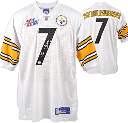 online store 1461e 58bf2 Ben Roethlisberger Pittsburgh Steelers Autographed White ...