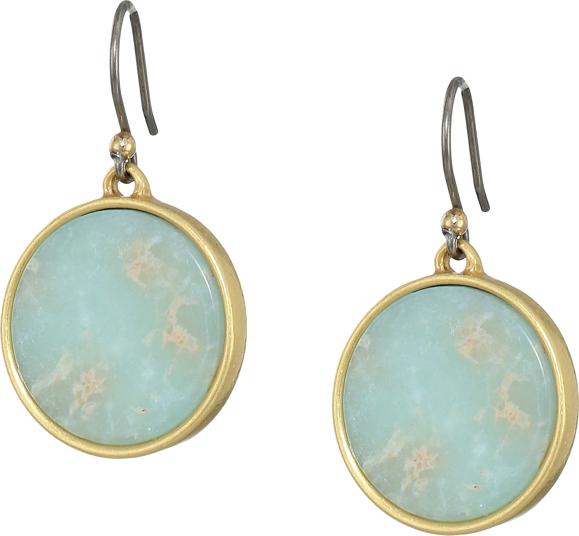 Lucky Brand Women's Jasper Circle Earrings, Gold, One Size