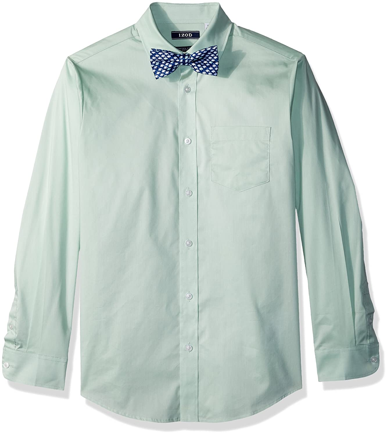 Amazon Izod Boys Long Sleeve Dress Shirt With Bow Tie Clothing