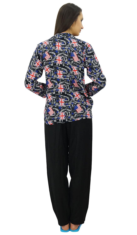 Bimba Camisa abotonada con pantalones de pijama conjunto salón desgaste camisa de dormir con pijama: Amazon.es: Ropa y accesorios