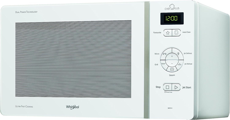 Whirlpool ChefPlus Sobre el rango - Microondas (Sobre el rango, Microondas combinado, 25 L, 800 W, Botones, Blanco)