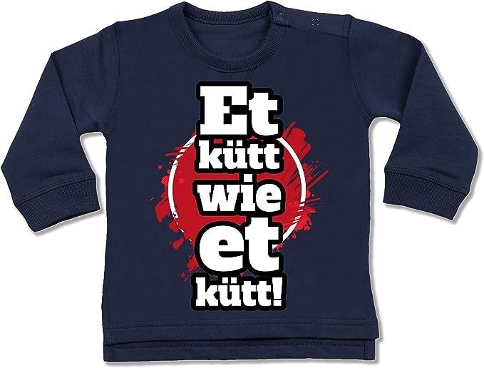 Shirtracer Karneval und Fasching Baby Et K/ütt Wie Et K/ütt Wei/ß K/öln Silhouette Kurzarm Baby-Shirt f/ür Jungen und M/ädchen