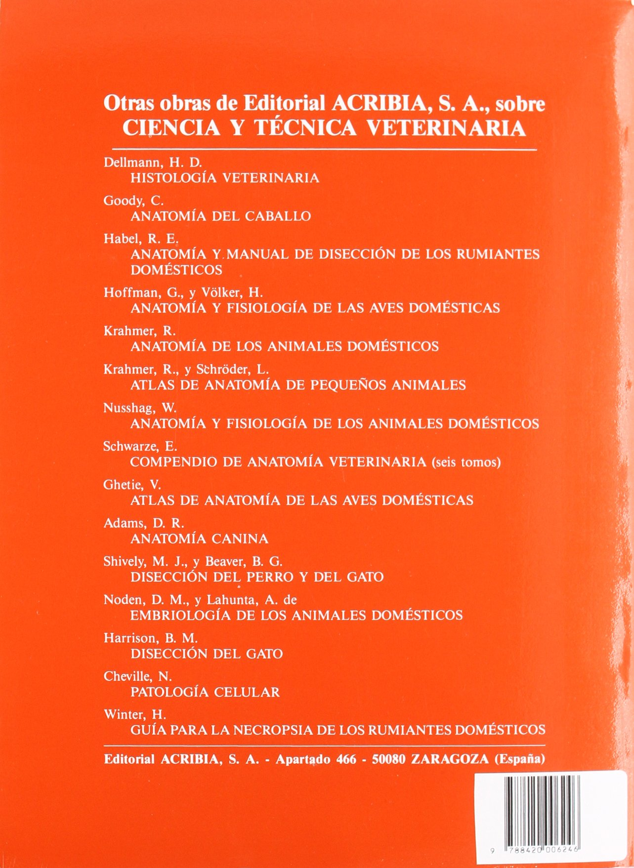 Lujo Atlas Y Disección Guía Para La Anatomía Comparada Cresta ...