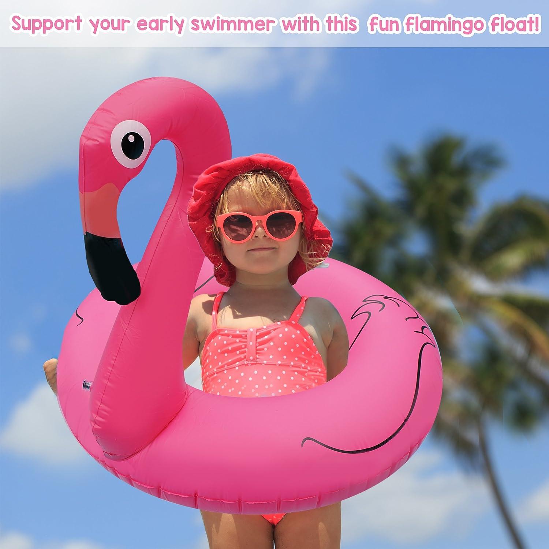 Anillo Flotador de Flamenco Inflable pequeño - Accesorio Divertido Ideal para el Piscina, Agua - para bebés y niños pequeños: Amazon.es: Hogar
