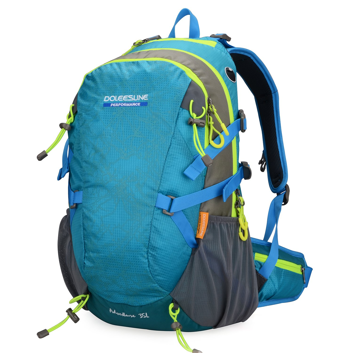 28f37334a Amazon.com : Doleesune Outdoor Hiking Daypacks Climbing Cycling Backpack  Hiking Backpacking Packs Waterproof Mountaineering Bag 35l 8103(Blue) :  Sports & ...
