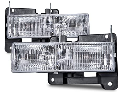 Amazon headlights depot replacement for chevrolet gmc chevy gmc headlights depot replacement for chevrolet gmc chevy gmc pickup sierra silverado replacement headlights with bulbs freerunsca Images
