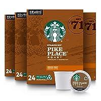 Starbucks Medium Roast K-Cup Coffee Pods — Pike Place Roast for Keurig Brewers —...