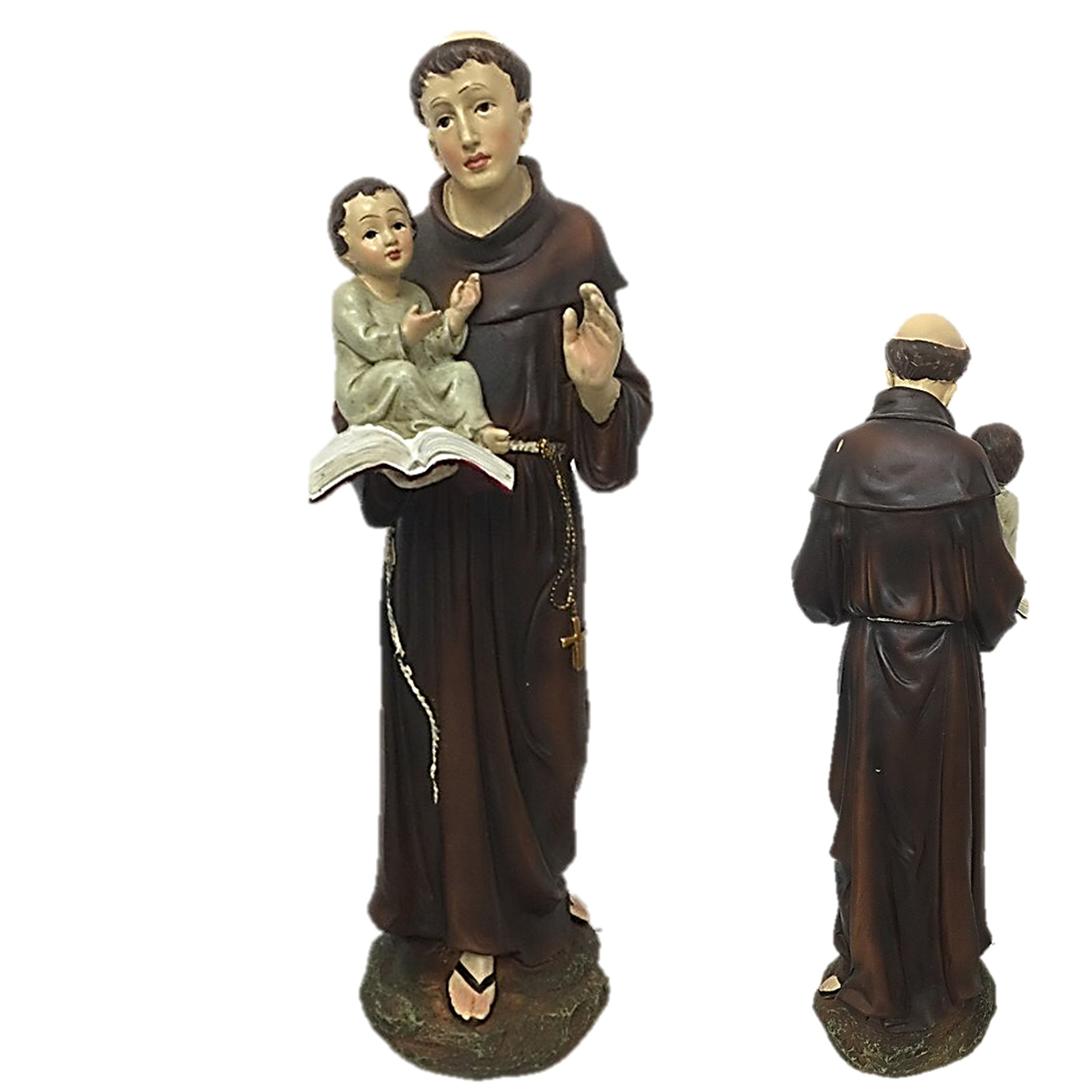 GIOVANNI Saint Antonio with Child Figurine Inch