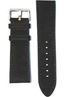 850e82ba0 Panerai Suede Style 20mm Black Genuine Leather Calfskin with Matching  Stitch and Heavy S/S