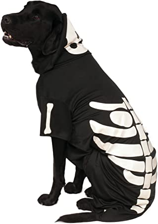 Official Rubies Skeleton Hoodie Pet Dog Halloween Costume Size XX Large Neck To Tail