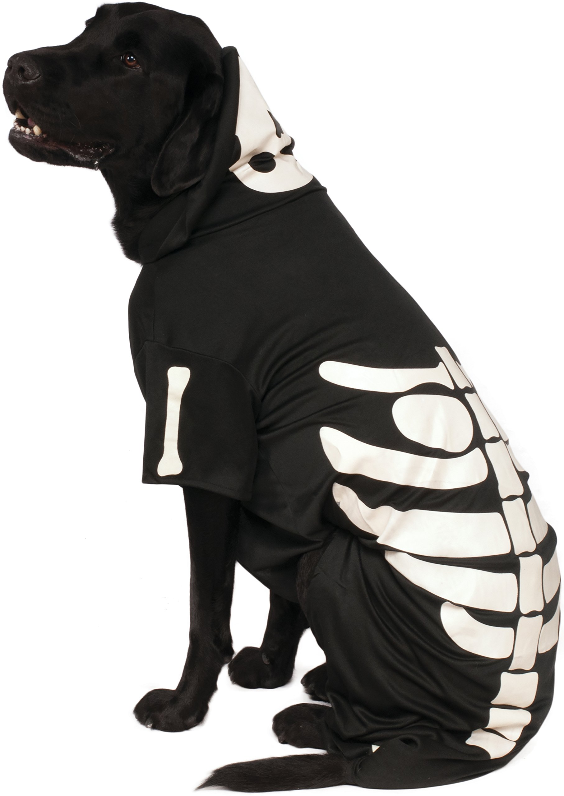 Rubie's Pet Costume, 2X-Large, Glow in The Dark Skeleton Hoodie