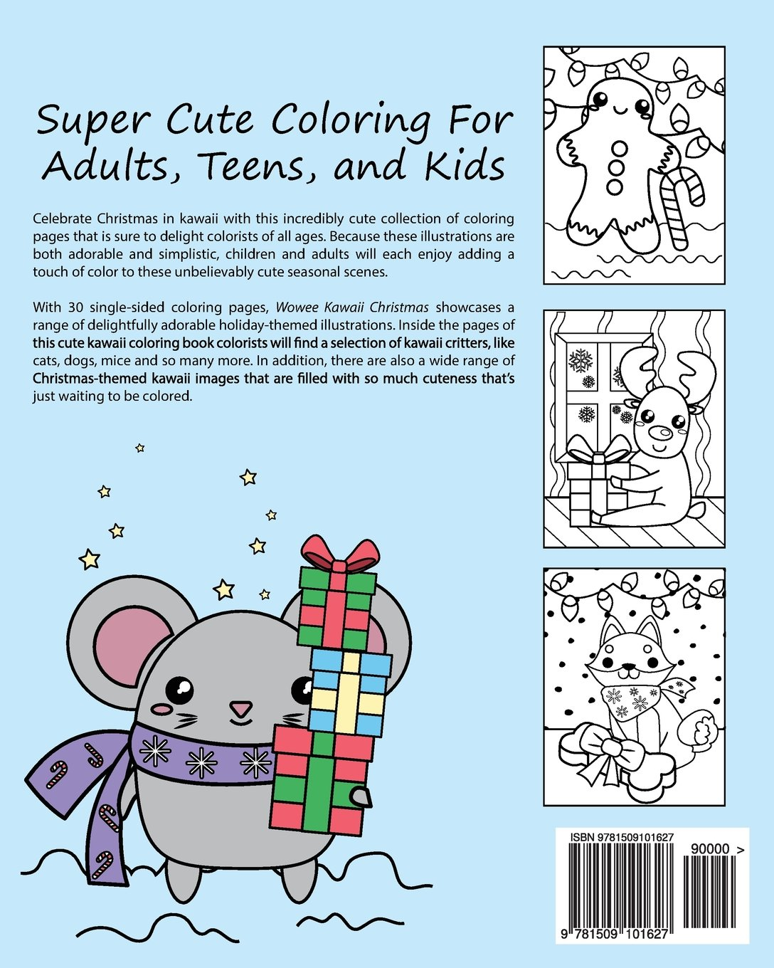 Wowee Kawaii Christmas Coloring Book Super Cute Coloring For Adults