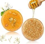 2PCS Hair Shampoo Bar, Phogary Hair Soap (Jasmine + Honey) Various Fragrances Plant Essence Shampoo Natural for Dry & Damaged Hair - Helps Stop Hair Loss and Promotes Healthy Hair Growth 3.88 oz