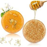 2PCS Hair Shampoo Bar, Phogary Hair Soap (Jasmine + Honey) Various Fragrances Plant Essence Shampoo for Dry & Damaged Hair - Helps Stop Hair Loss and Promotes Healthy Hair Growth 3.88 oz