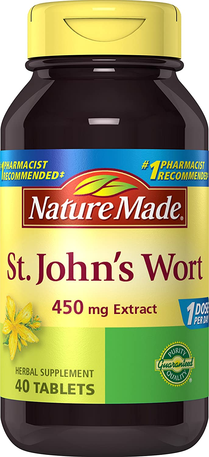 Nature Made St. John s Wort 450 mg. Tablets 40 Ct