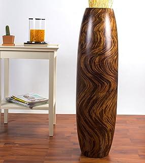 tall floor vase 36 inches wood brown - Wooden Floor Vase