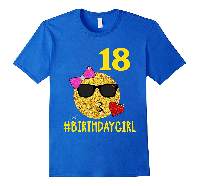 Emoji Kiss 18 Birthday Girl 18 Years Old 18th Birthday