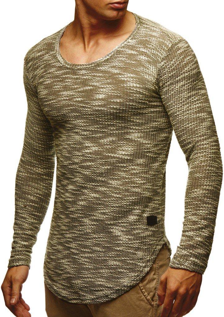 LEIF NELSON mens pullover long sleeve t-shirt sweater sweatshirt hoodie slim fit