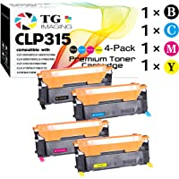 TG Imaging (4-Pack Set) Compatible CLT-409 CLT-409S Toner Cartridge (Black+Cyan+Magenta+Yellow), for use in Samsung CLP-310 CLP-315 CLX-3170 CLX-3175 Printers
