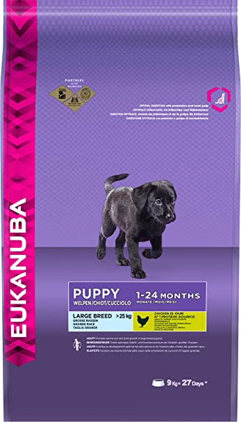 Eukanuba Dog Dry Base Puppy Large Breeds Chicken Bag - Comida para Perros 1-24 meses- 9000 gr: Amazon.es: Productos para mascotas