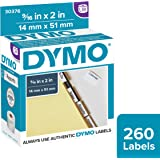 DYMO LW Hanging File Tab Insert Labels for LabelWriter Label Printers, White, 9/16'' by 2'', 1 roll of 260 (30376)