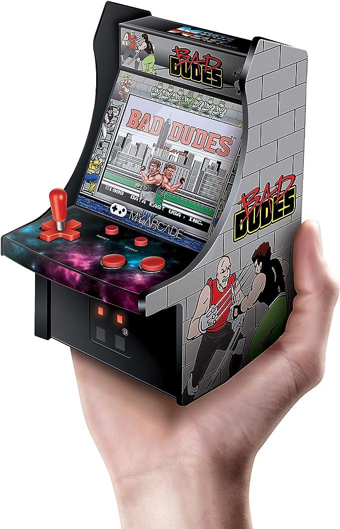 My Arcade Bad Dudes Micro Player - 6.75 Inch Mini Retro Arcade Machine Cabinet - Licensed Collectible