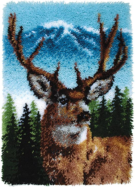 Wonderart Classics Deer Latch Hook Kit acrylic 20In X 30In free Shipping