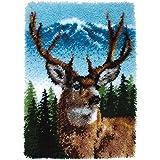 "Wonderart Classics Deer Latch Hook Kit, 20"" X 30"""