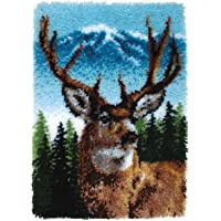 Spinrite Wonderart Classic Latch Hook Kit, 20 by 30-Inch, Deer