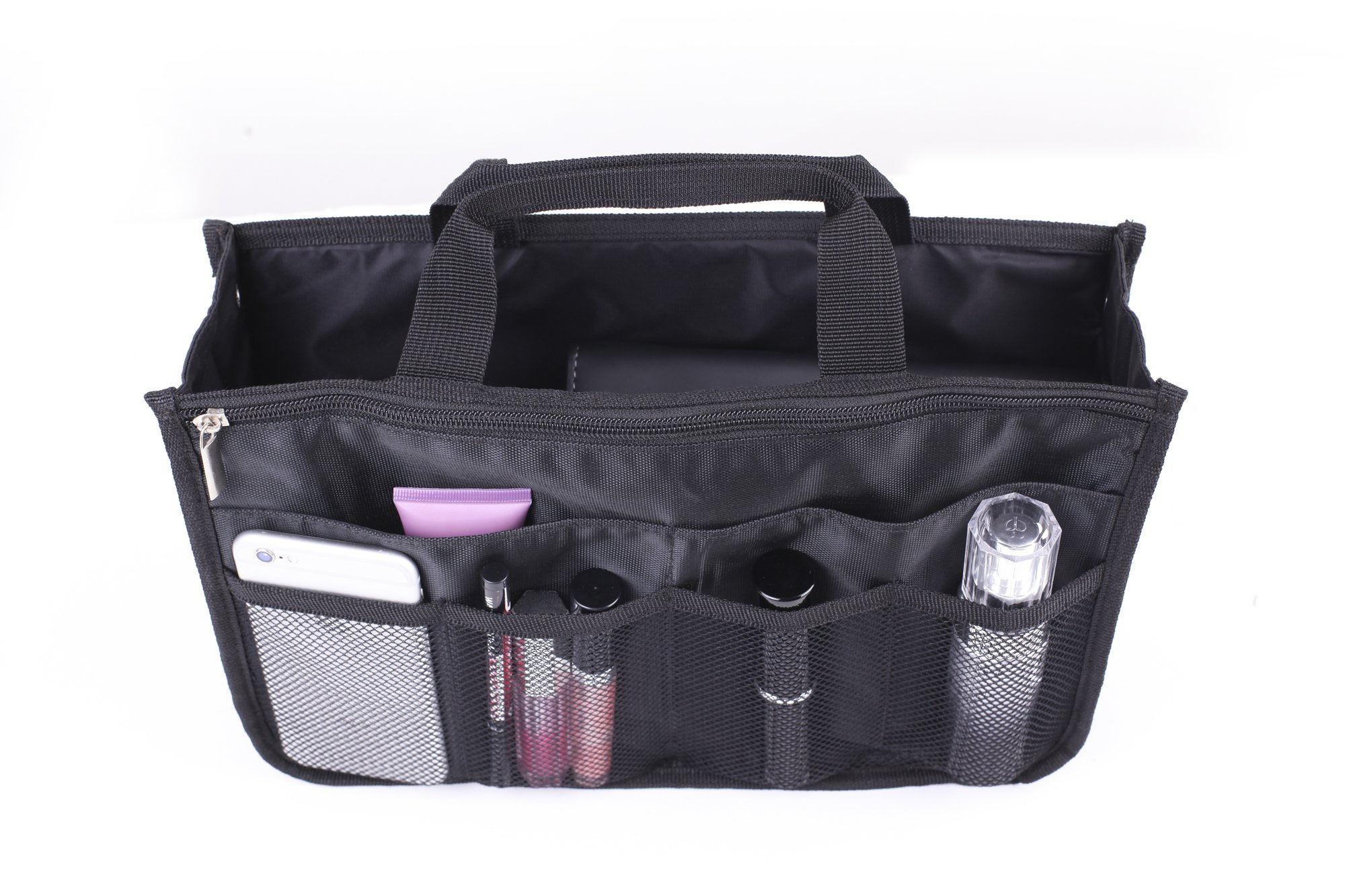 RW Collections Handbag Organizer, Liner, Sturdy Nylon Purse Insert (2X-Large, Black)
