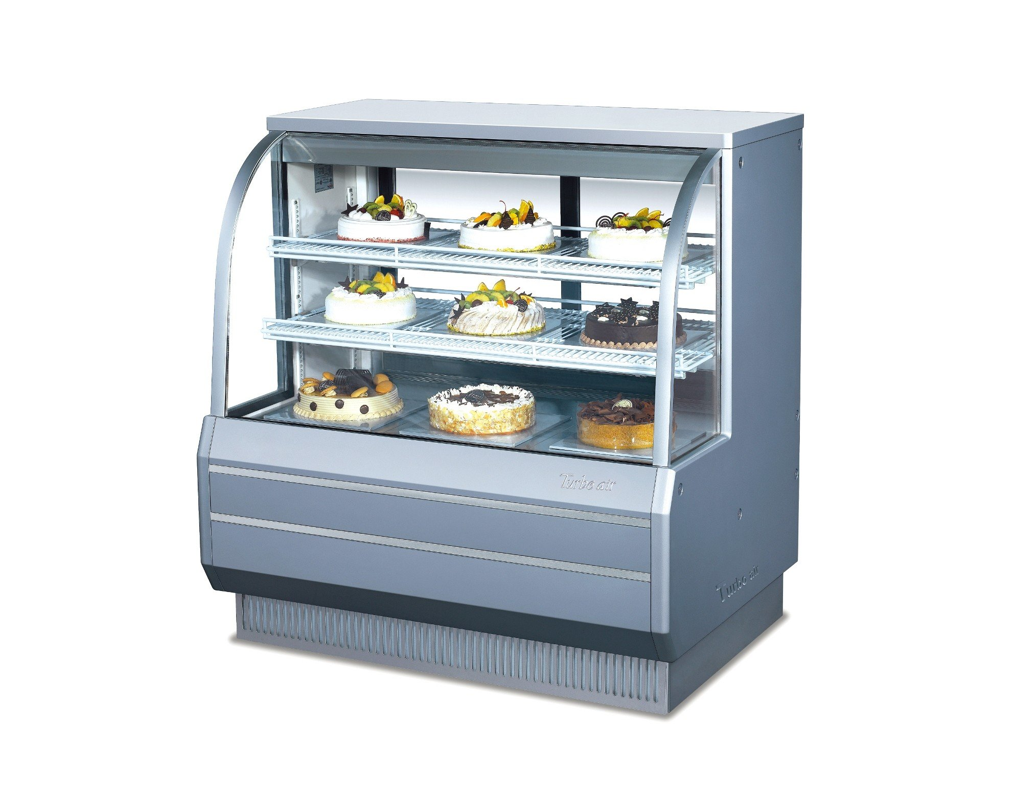 Turbo Air TCGB-48-2 48'' Curved Glass Refrigerated Bakery Case