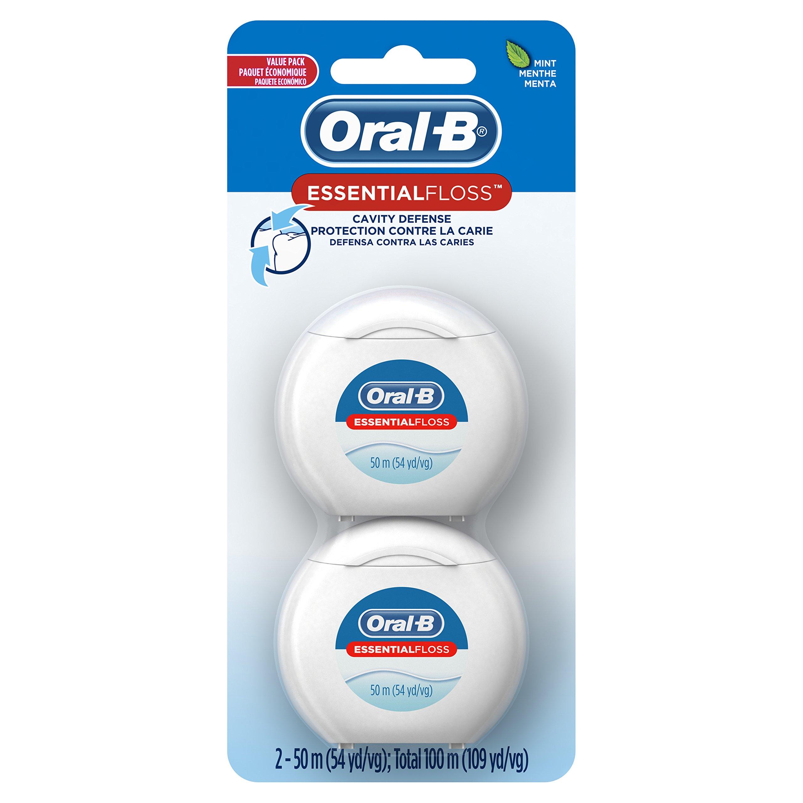 Oral-B EssentialFloss Cavity Defense Dental Floss, 50 M, Pack of 2