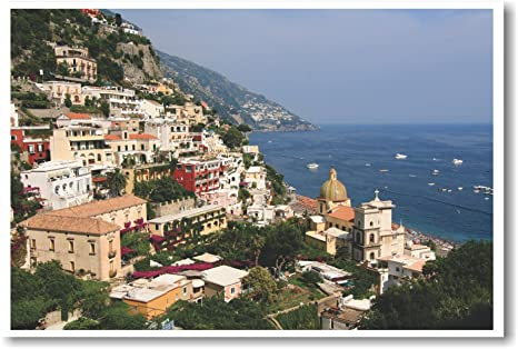 Amazon.com: Positano Italia – Nuevo Mundo Cartel de viaje ...