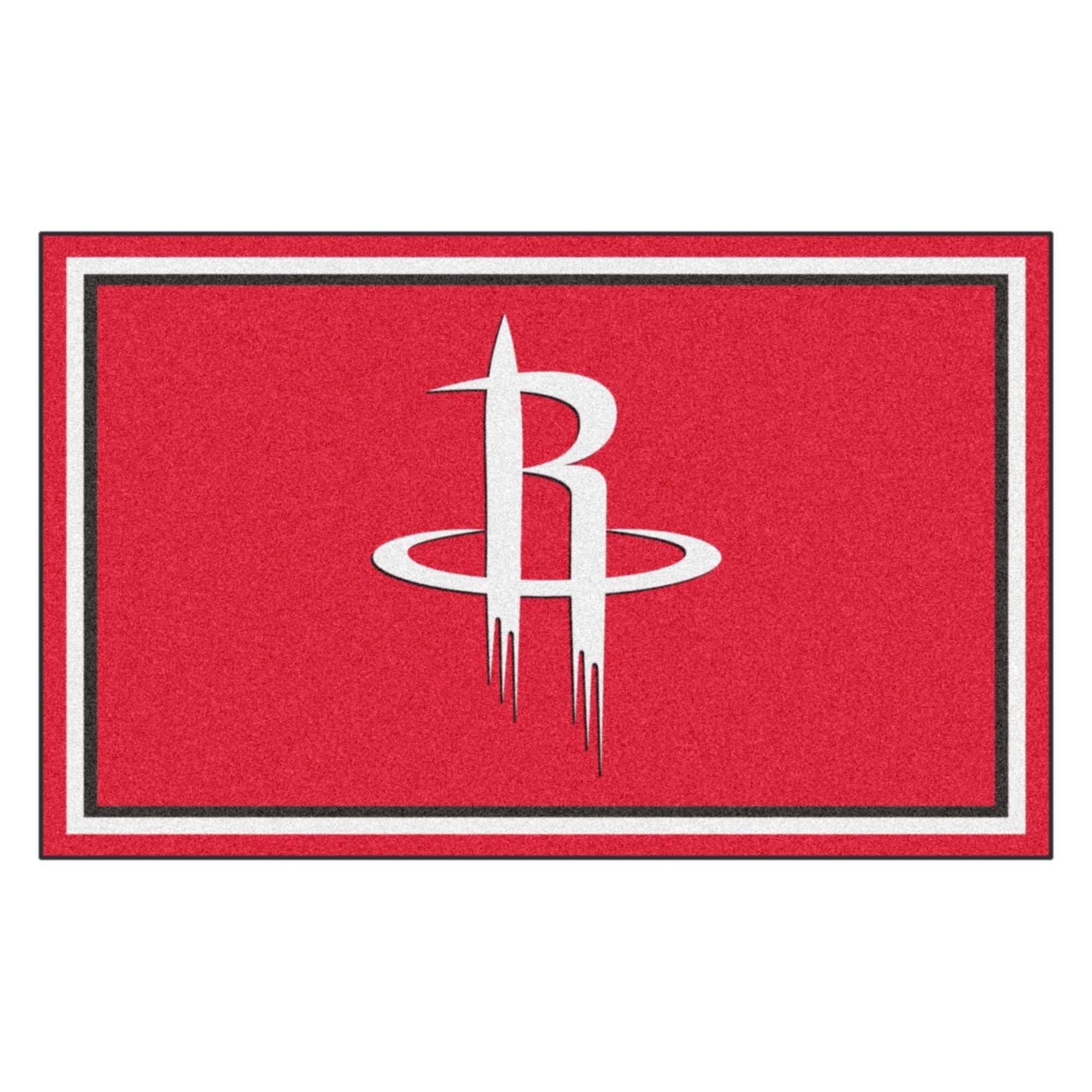 FANMATS 20428 NBA - Houston Rockets 4'X6' Rug, Team Color, 44''x71'' by Fanmats