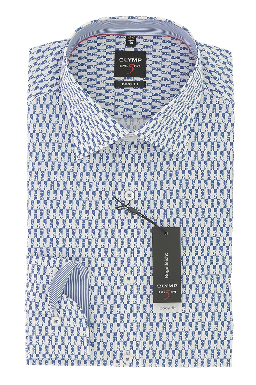 OLYMP Men's Formal Shirt blue blue