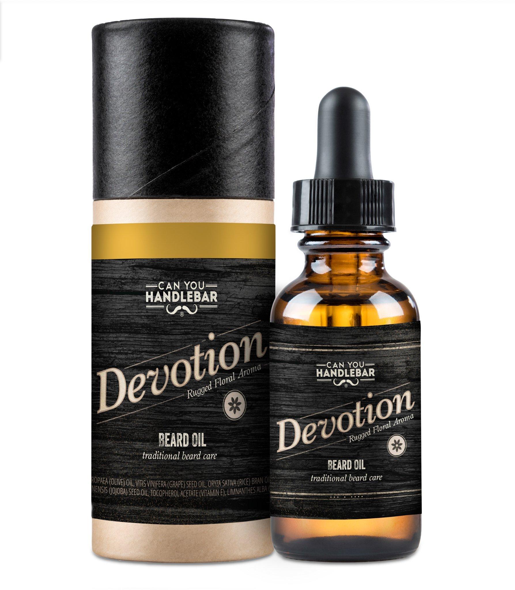 Can You Handlebar Devotion Premium Beard Oil Bottle: Patchouli Floral