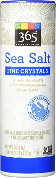 365 Everyday Value Fine Sea Salt, 26.5 oz