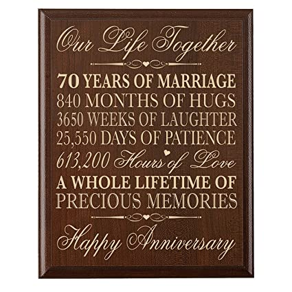 70th Wedding Anniversary.70th Wedding Anniversary Wall Plaque Gifts For Couple Parents 70th For Her Him 70th Wedding For Him 12 Wx 15 H Wall Plaque Cherry