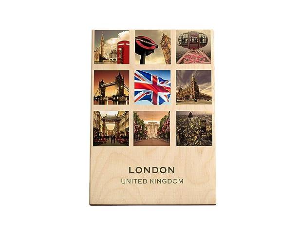 Londres | Tabla de Madera impresa | serie de