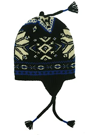 Polo Ralph Lauren Mens Wool Fair Isle Winter Hat Black O/S at ...