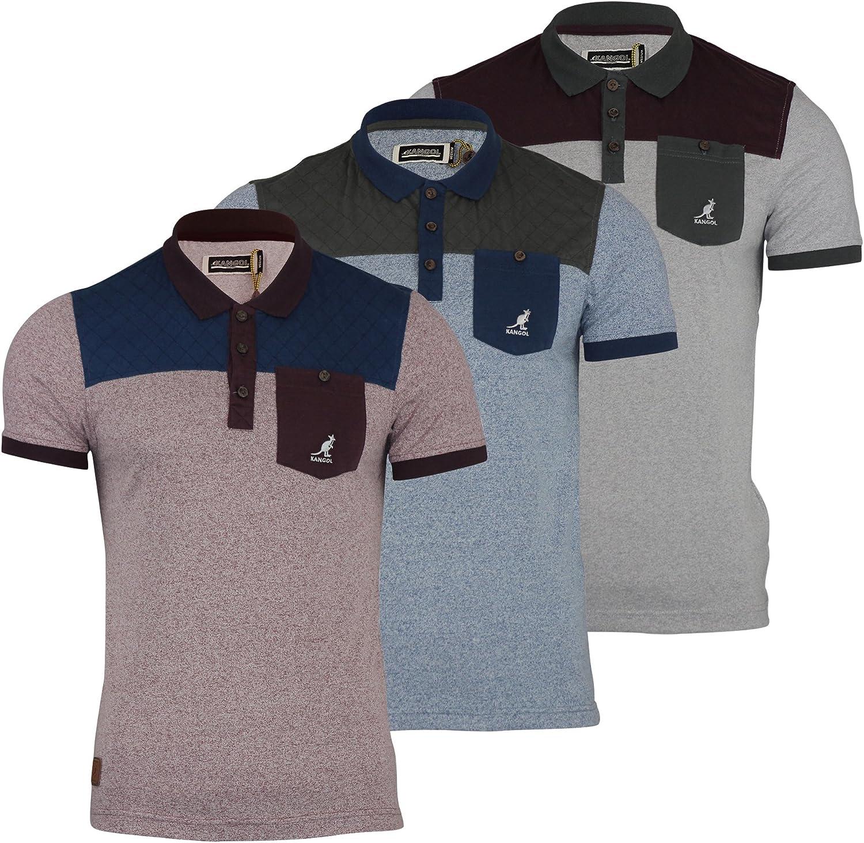 Para hombre Polo T-Shirt los antebrazos Kangol de funda de edredón ...