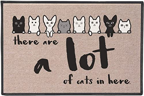 WHAT ON EARTH There are A Lot of Cats Mat – Funny Olefin Welcome Door Mat